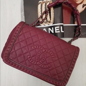 Chanel Burgundy Lambskin Bag.FINAL PRICE❌